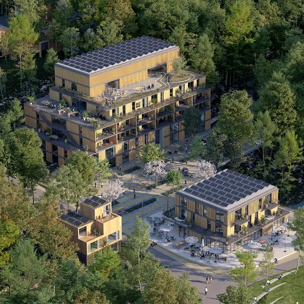 luchtfoto het Dorp